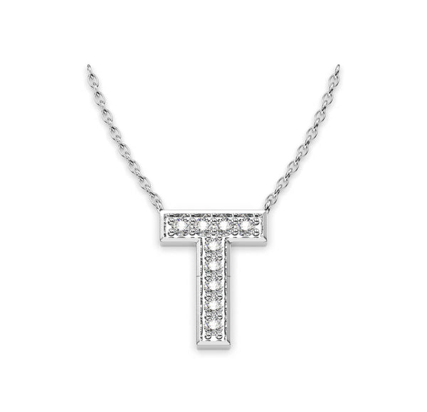 Diamond initials Necklace T