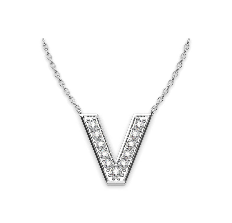 Diamond Initials Necklace V