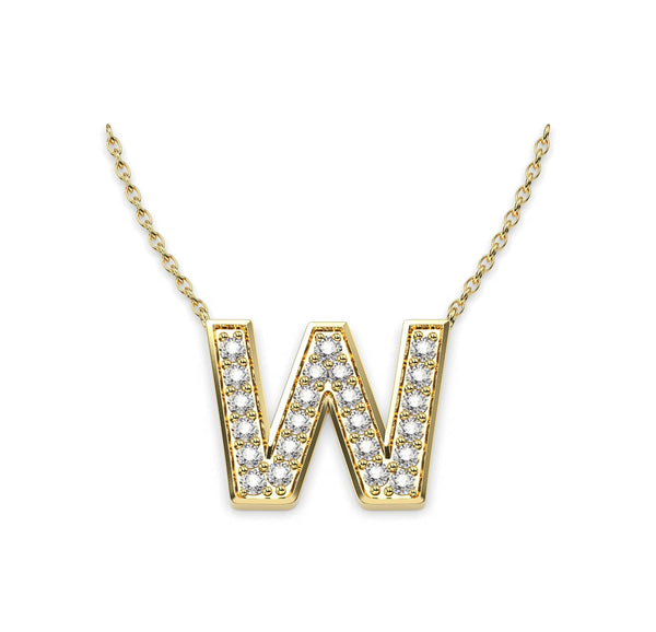 Diamond Initials Necklace W