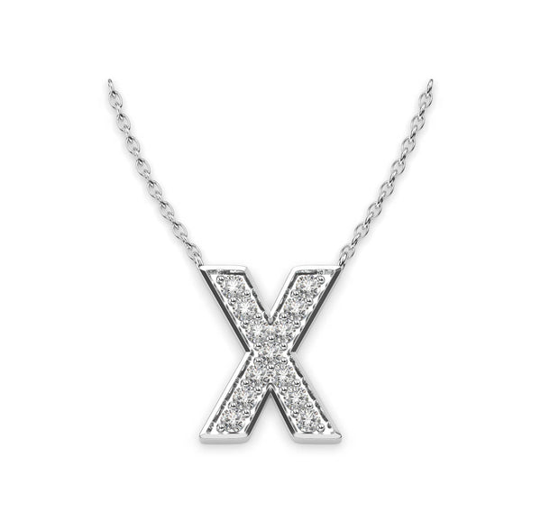 Diamond Initials Necklace X