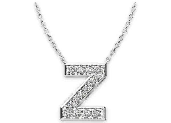 Diamond Initials Necklace Z