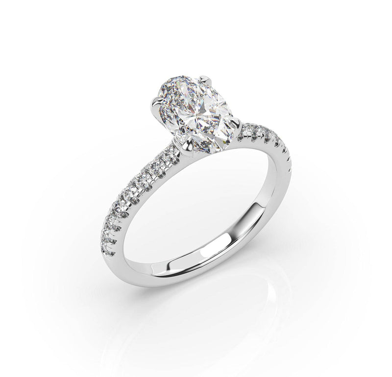 Oval diamond Solitaire Ring (ARTSR016)