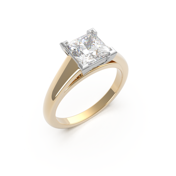 Princess Cut Solitaire Ring (ARTSR081)