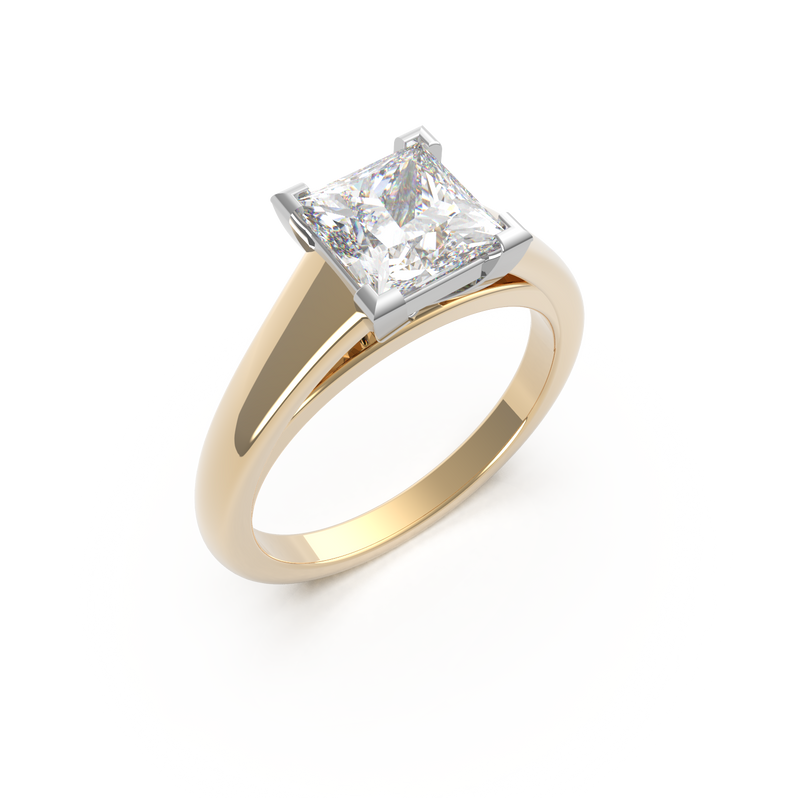 Princess Cut Solitaire Engagement Ring (ARTSR081)