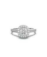 Cusion Cut Double Halo Diamond Ring (ARTDH02)