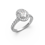 Oval Diamond Halo Engagement Ring (ARTHR03)
