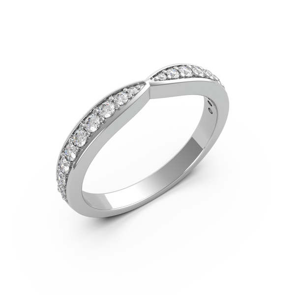 Twin Diamond Wedding Ring (ARTLDWR113)