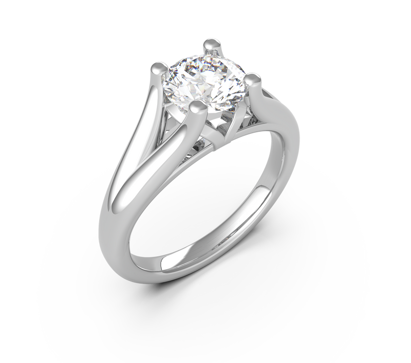 Round Diamond Solitaire Ring (ARTSR002)