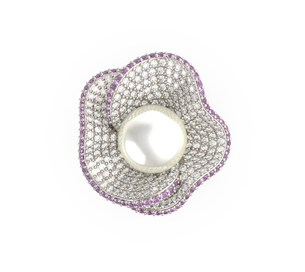 South Sea Pearl Flower Ring (ARTPR103)