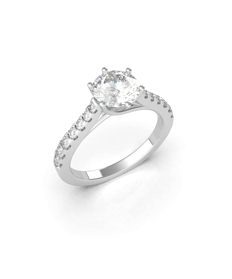 Round Brilliant Solitaire Ring (ARTSR078)