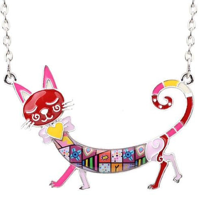 Original Bonsny Maxi Kitten Necklace CatLadies.store | Shop for Cats & Cat Lovers Red
