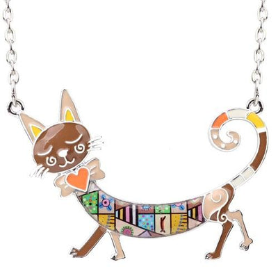 Original Bonsny Maxi Kitten Necklace CatLadies.store | Shop for Cats & Cat Lovers Brown