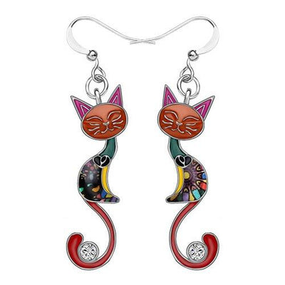 Original Bonsny Tail Cat Earrings CatLadies.store | Shop for Cats & Cat Lovers Multicolor