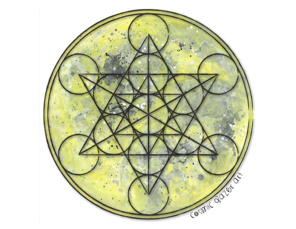 Full Moon Metatron Print
