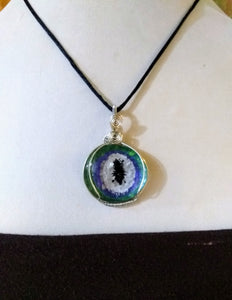 Evil Eye Protection pendant Wire Wrapped Dragon Eye