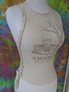 Upcycled Custom Cut & Braided Women's Tank