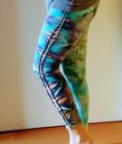 Custom Cut up Tie Dye Leggings