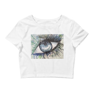 Watercolor Eye II Women's Crop Top
