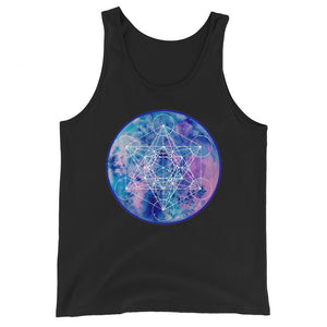 Zenetae Metatron mens tank unisex tank cosmic sacred geometry  wearable art
