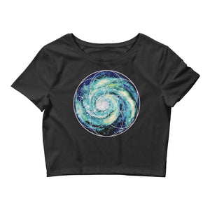 Spiral Galaxy Seed of Life Women's Crop Top
