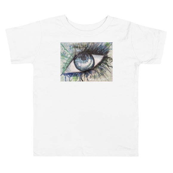 Watercolor Eye II Toddler Short Sleeve Tee