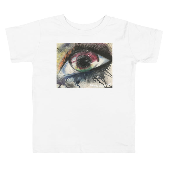 Watercolor Eye I Toddler Short Sleeve Tee