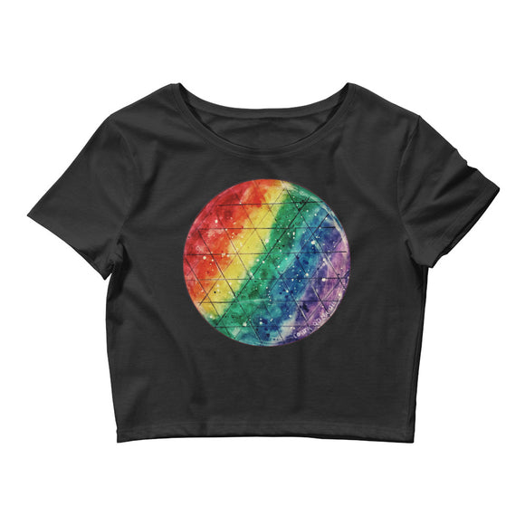 Rainbow Prism Women's Crop Top