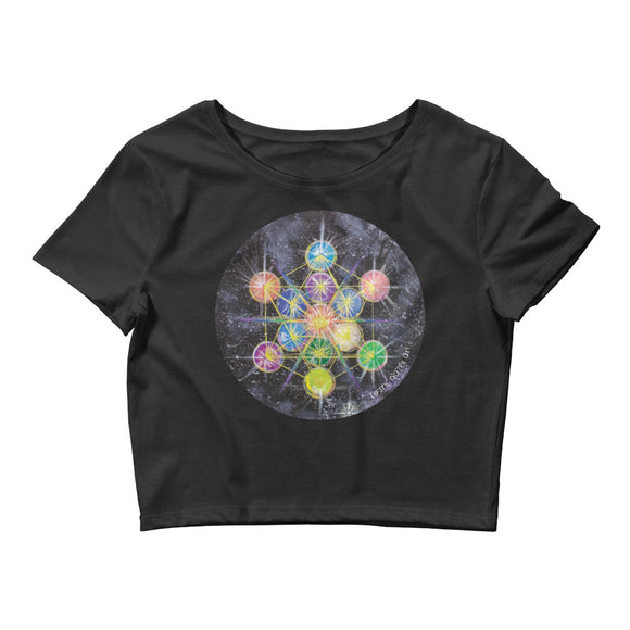 Rainbow Metatron Women's Crop Tee