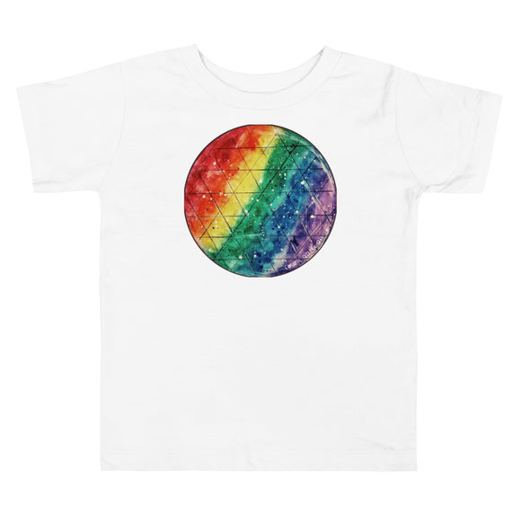 Rainbow Prism Toddler Short Sleeve Tee