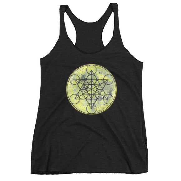 Full Moon Metatron Women's Racerback Tank