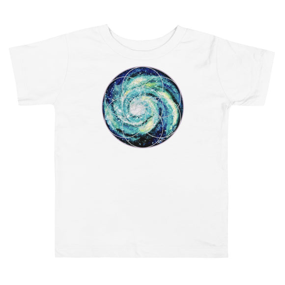Spiral Galaxy Seed of Life Toddler Short Sleeve Tee