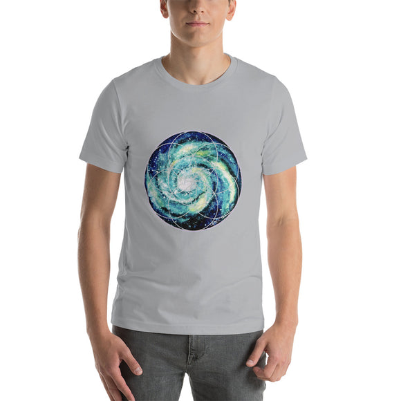 Spiral Galaxy Seed of Life Short-Sleeve Unisex T-Shirt