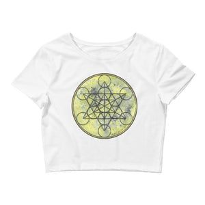 Full Moon Metatron Womens Crop Top