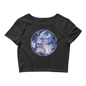 Nebula Seed of Life Womens Crop Top