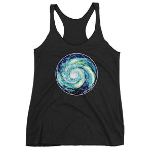 Spiral Galaxy Seed of Life womens racerback tank high vibe cosmic sacred geometry shirt wearable art