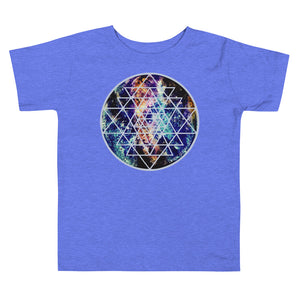 Geode Galaxy Sri Yantra Toddler Short Sleeve Tee