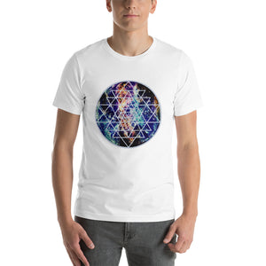 Geode Galaxy Sri Yantra Cosmic Sacred Geometry Short-Sleeve Unisex / Mens T-Shirt