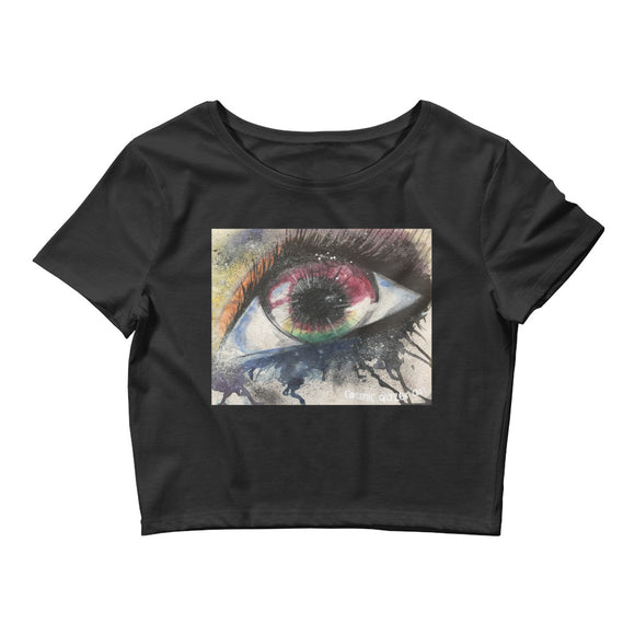 Watercolor Eye I Women's Crop Top