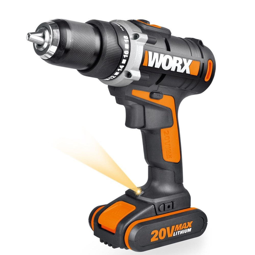 20V Max 13mm Cordless Drill Driver with LED light