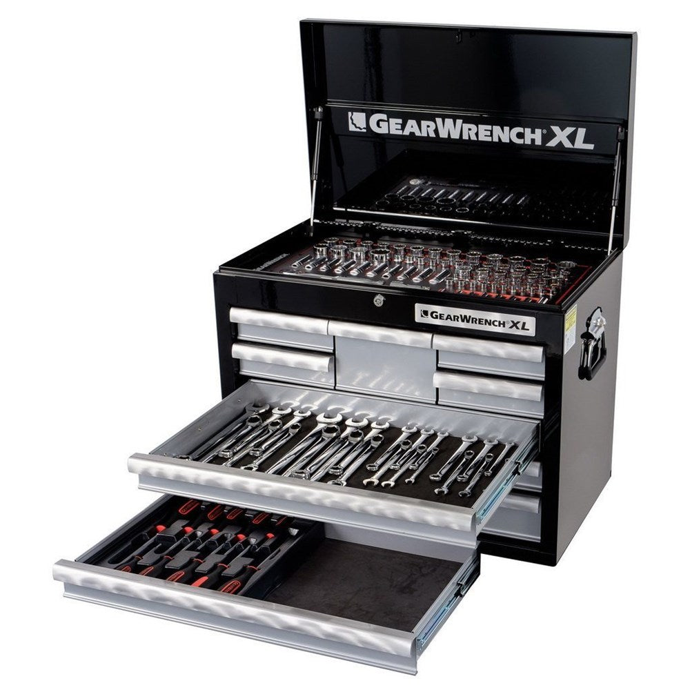 128-Piece 8 Drawer Deep Chest + 127-Piece Combination Tool Set