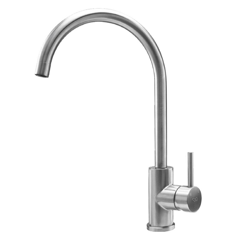 Gooseneck Tap with Swivel Spout Stainless Steel
