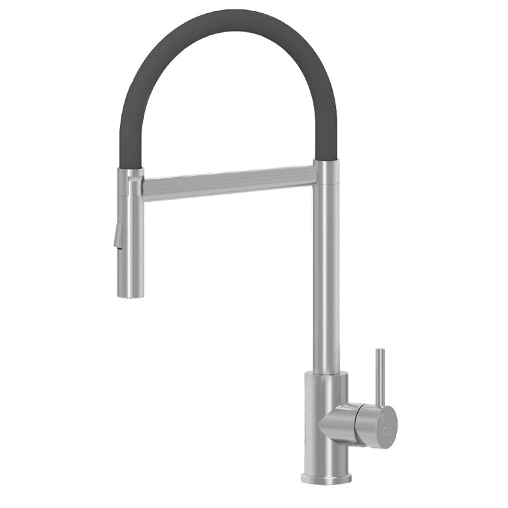 Gooseneck Tap with Flexi Hose Stainless Steel