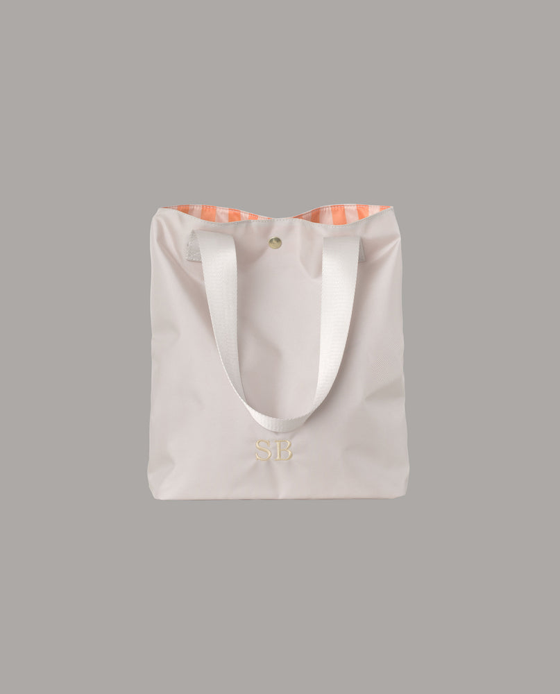 The Coco shopper in white/grey nylon