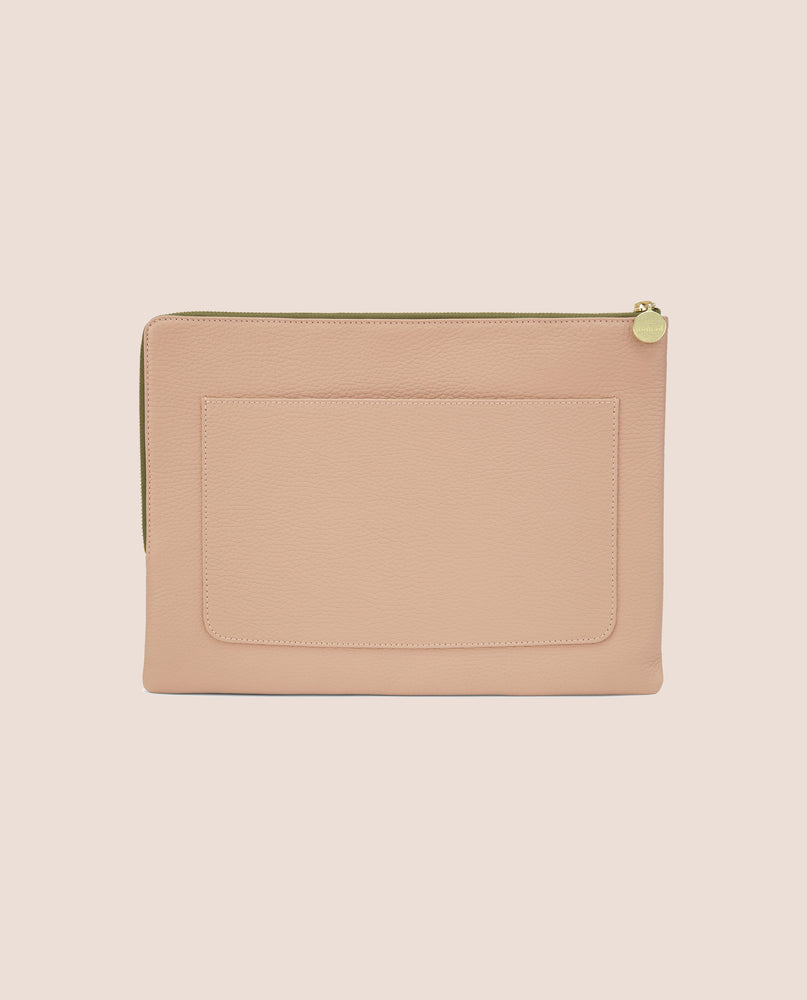 Howard computer sleeve in nude leather