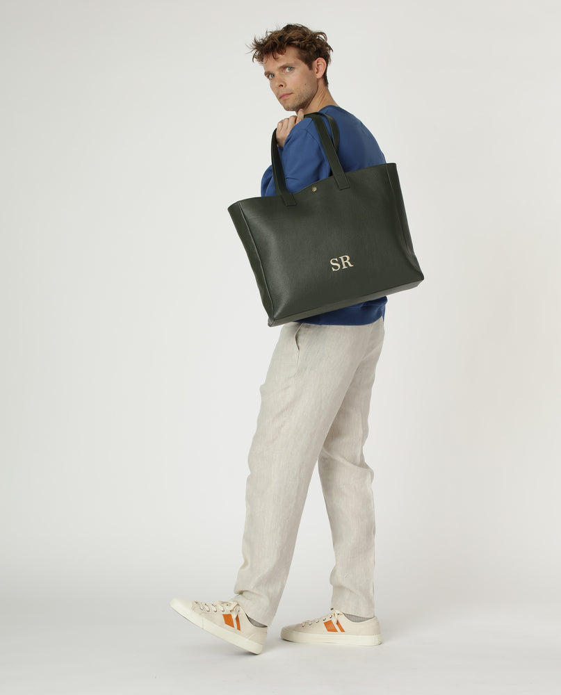 Mercer shopper in leather