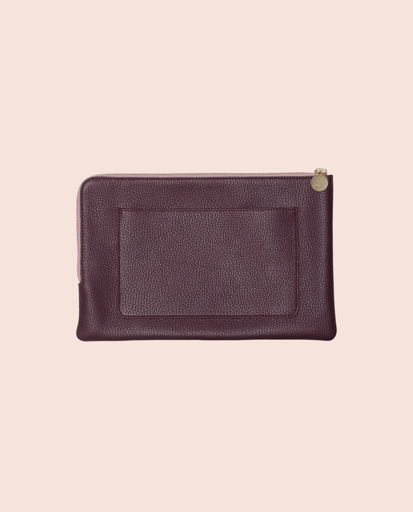 Shutters clutch in leather