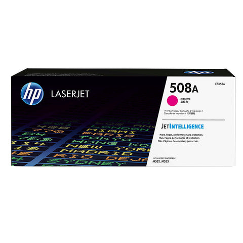 HP 508A (CF363A) Magenta Original LaserJet Toner Cartridge (5000 Yield)