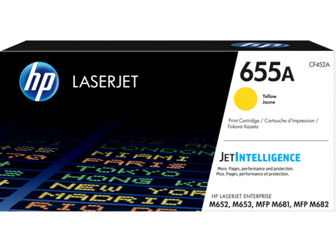 HP 655A (CF452A) Yellow Original LaserJet Toner Cartridge (10500 Yield)