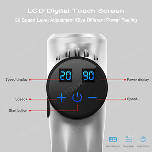 LCD Display Massage Gun Deep Muscle Massager Muscle Pain Body Massage Exercising  Relaxation Slimming Shaping Pain Relief