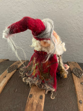 Load image into Gallery viewer, Santa of the Northern Woods Needle felted Christmas decor
